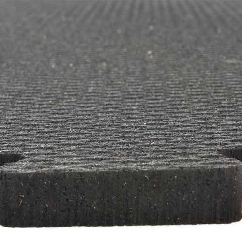 Rubber Tile Diamond 2x2 Ft 3/8 Inch Black texture.