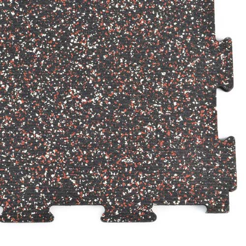 Rubber Tile Diamond 14x14 Ft Kit 3/8 Inch Color corner.