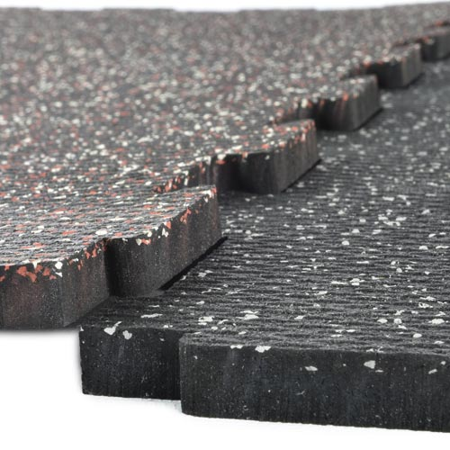 Rubber Tile Diamond 14x14 Ft Kit 3/8 Inch Color interlock.