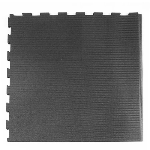 Rubberlock 2x2 ft 1/2 Inch black bevel tile.