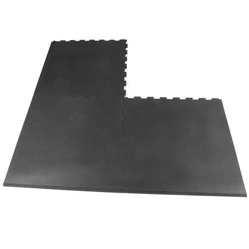Rubberlock 2x2 ft 1/2 Inch black bevel interlock.