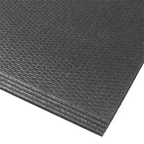 Rubberlock 2x2 ft 1/2 Inch black beveled corner.