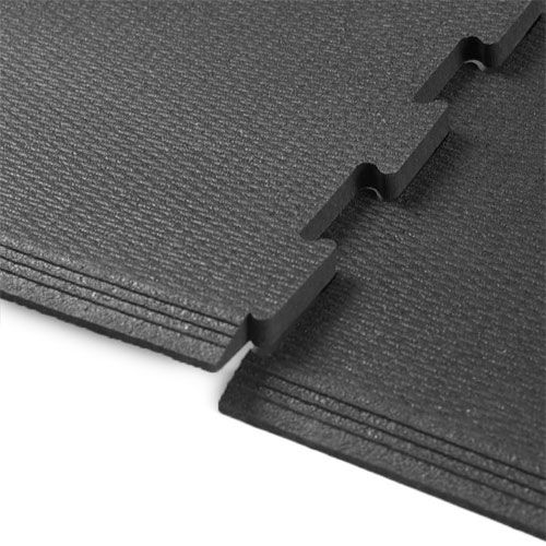 Rubberlock 2x2 ft 1/2 Inch black interlock.