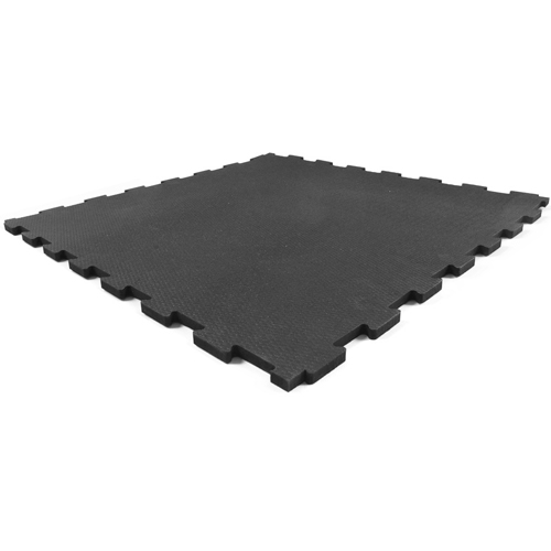 Rubberlock 2x2 ft 1/2 Inch black no bevel full tile.