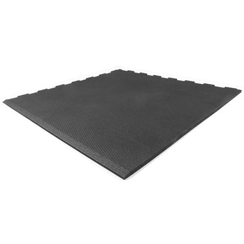 Home Gym Rubber Floor Tile Rubberlock 2x2 Ft 3 8 Inch Black Tile