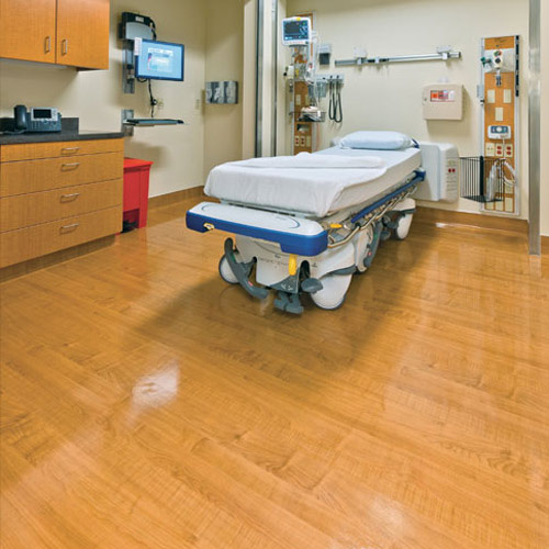 Wood Grain Natural Sheet Vinyl Flooring Roll Topseal