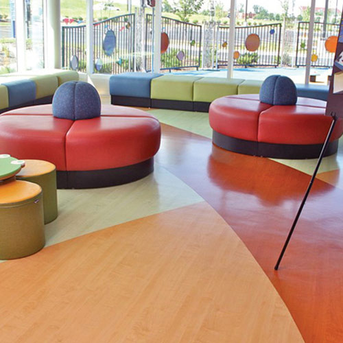 wood grain natural sheet vinyl flooring roll with topseal lobby