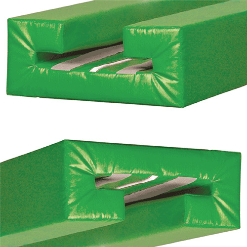 Channel-Style I-Beam green pad end view.
