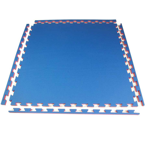 Pro Sport 7/8 Inch Foam Tile blue red mat.