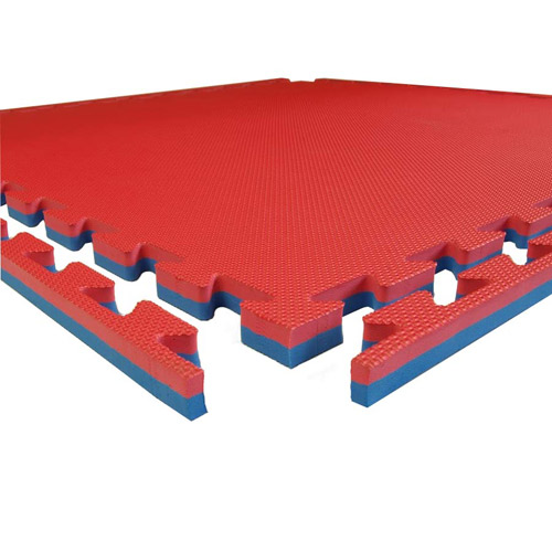 Pro Sport 7/8 Inch Foam Tile red blue mat.