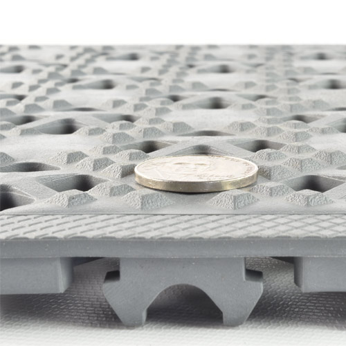 Ergo Matta Perforated Outdoor Tile tred thickness.