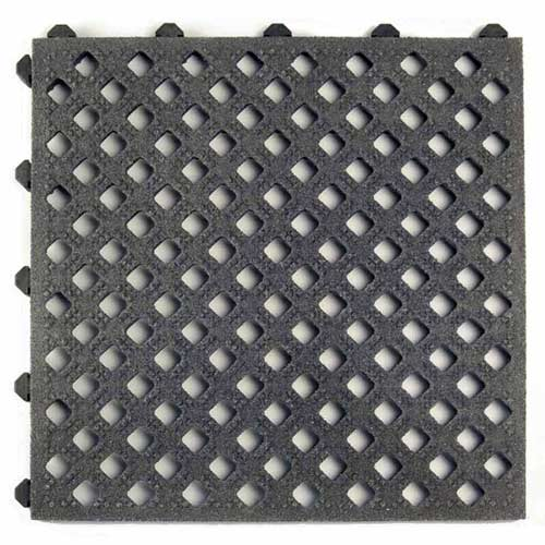 Safety Grit Top Matta Perforated Black.