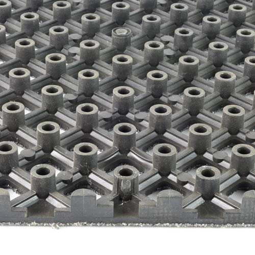 Safety Grit Top Matta Perforated Black tiles.