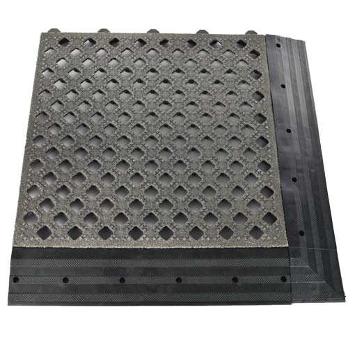 Safety Grit Top Matta Perforated Black tile borders.