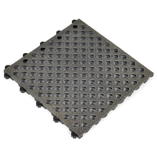 Safety Grit Top Matta Perforated Black corner.