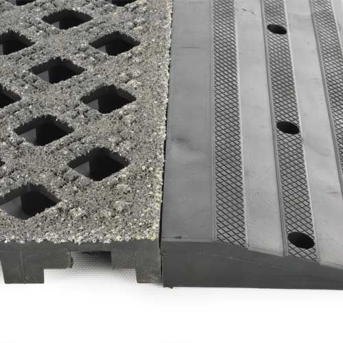 Safety Grit Top Matta Perforated Black tile ramp.