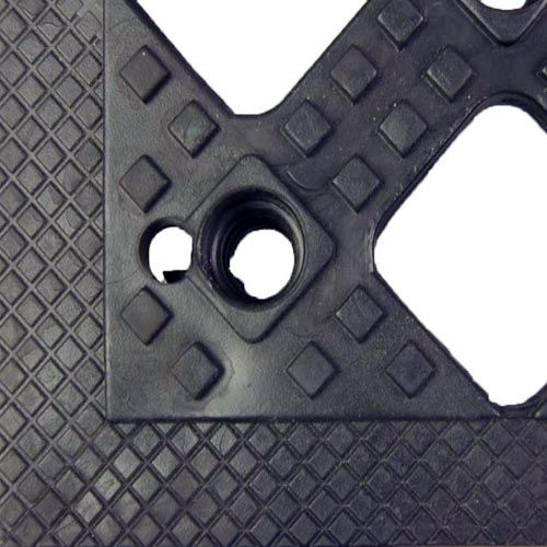 Safety Matta Perforated Black close up.