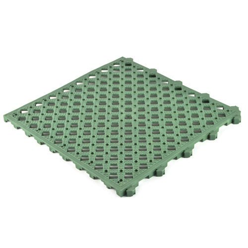 Safety Matta Perforated Green full angled.