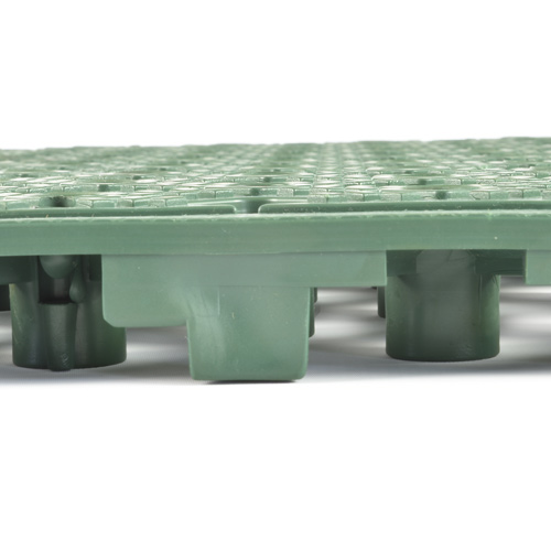 Safety Matta Perforated Green side of tile.