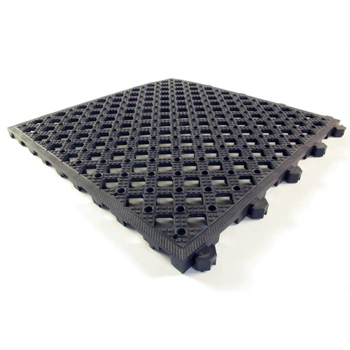 Safety Matta Perforated Black tiles.
