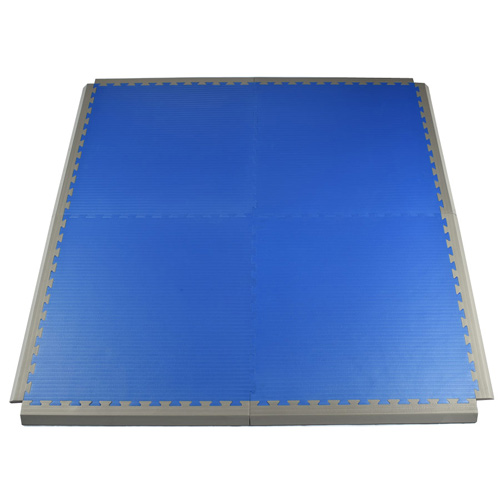 Grappling MMA Mats Blue 4 tiles with 1-5/8 Inch border.