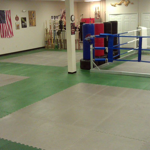 MMA Mats showing bellsouth workout room.