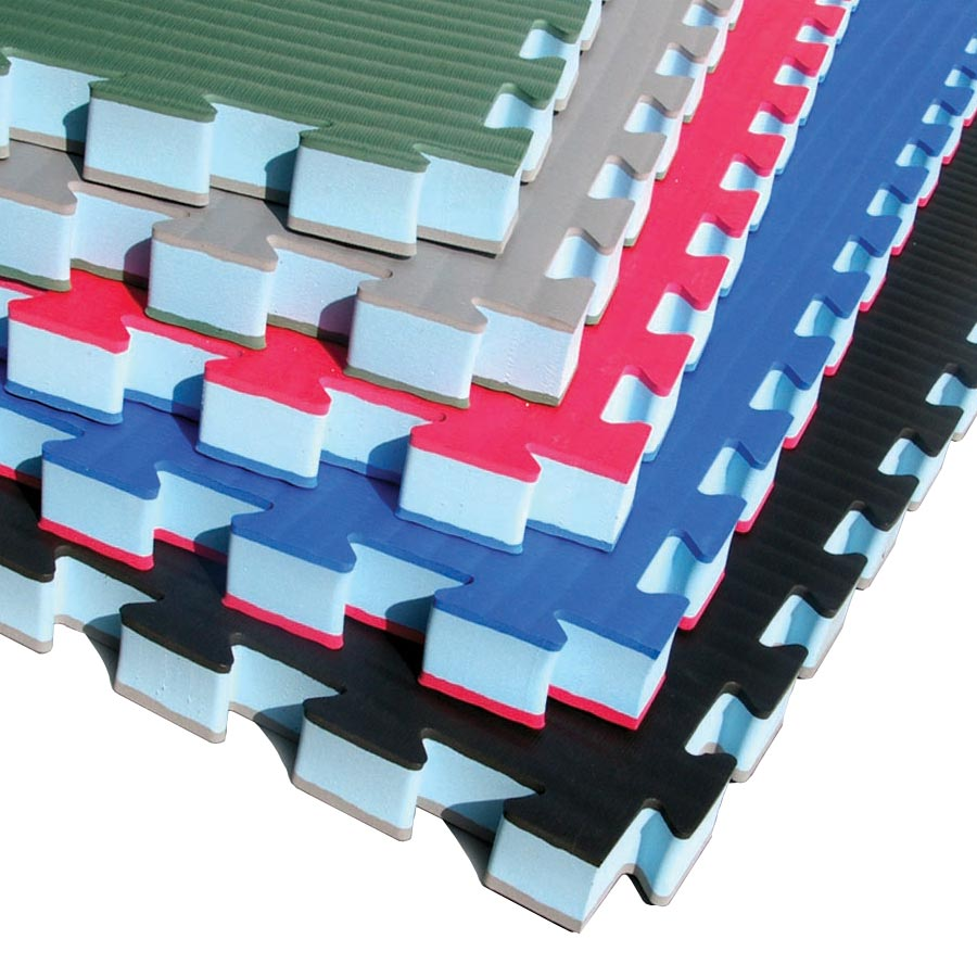 MMA Mats showing stack of colors.