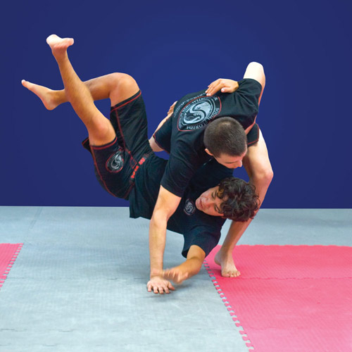 MMA Mats showing take down.
