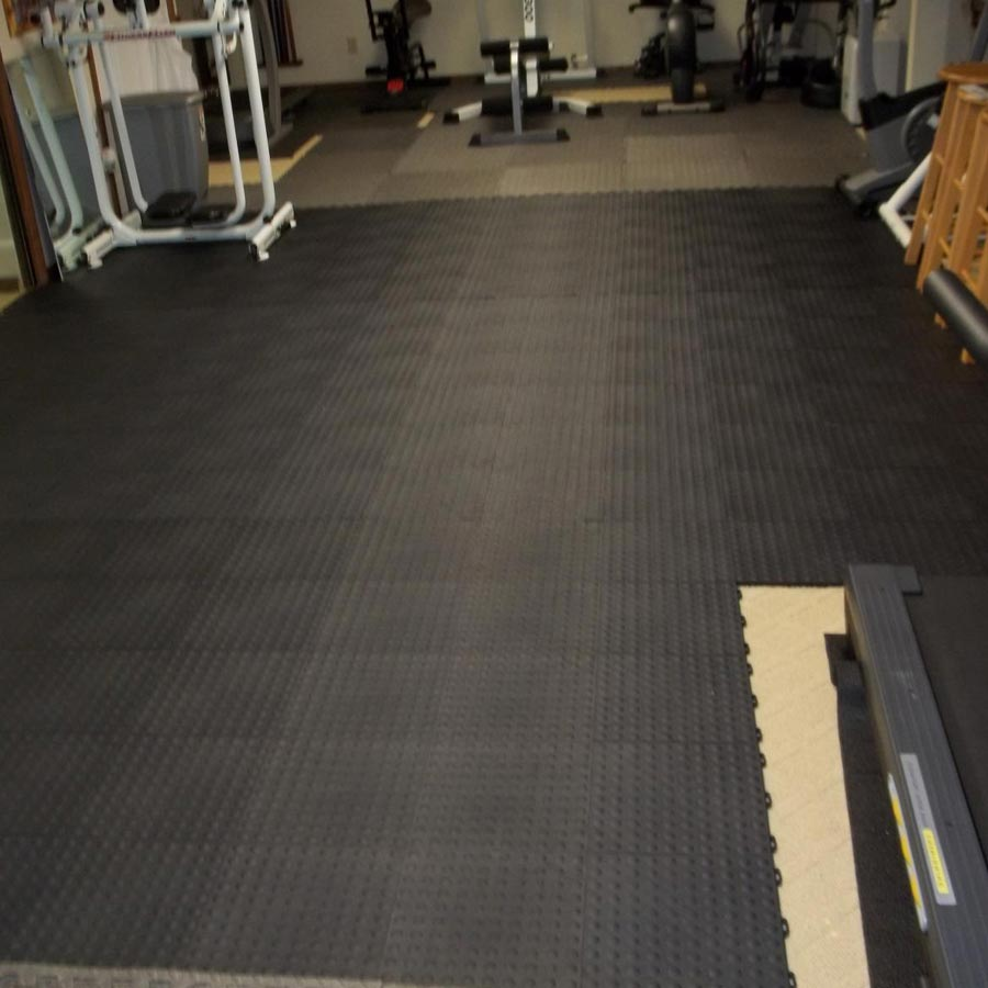 StayLock Bump Top Black exercise room.