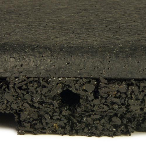 UltraTile Rubber Weight Floor All Colors black pin hole.