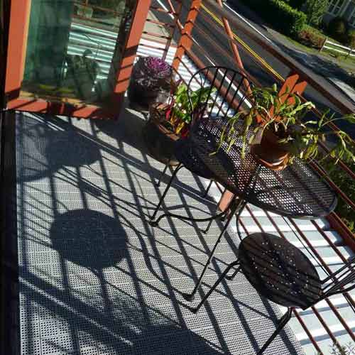 Patio Outdoor Tile gray customer install.
