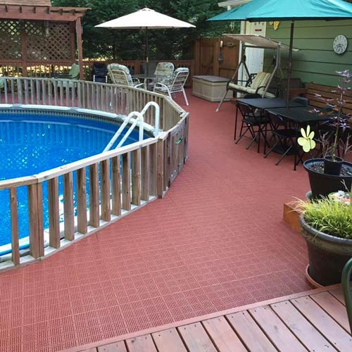 Outdoor Patio Tile Pool Surround