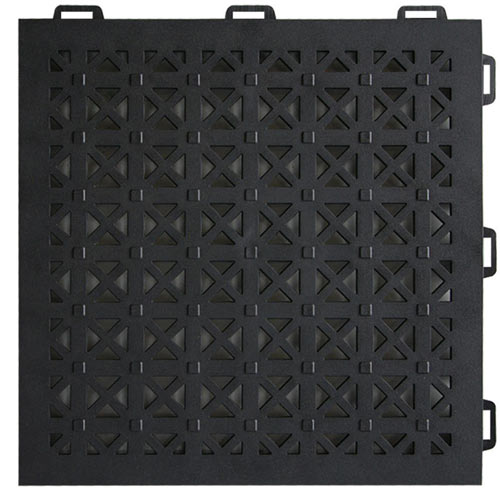 StayLock Perforated Black one tile.