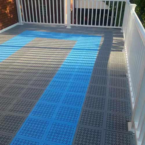 StayLock Perforated Colors blue gray deck.