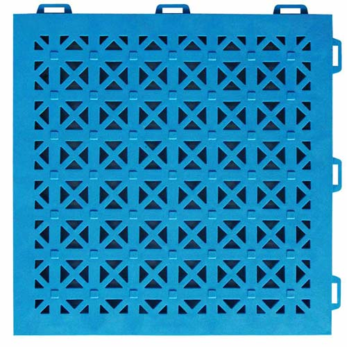 StayLock Perforated Colors one blue tile.