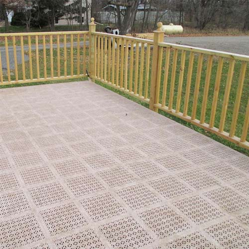 staylock deck tiles over wood deck