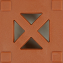 StayLock Perforated Colors terracotta swatch.