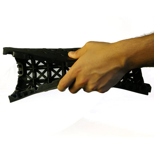 Perforated Black flexible tile.