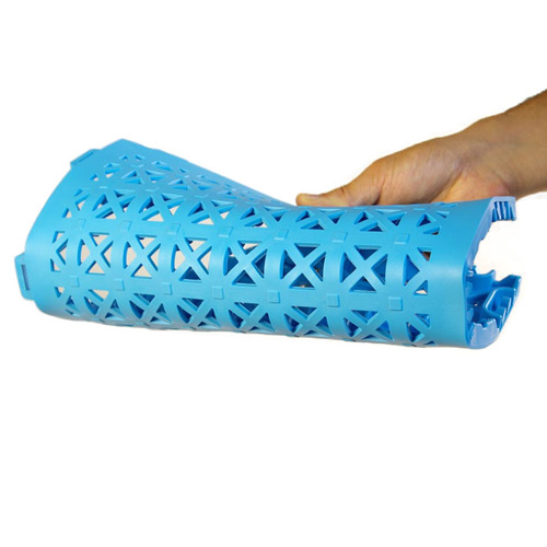 StayLock Perforated Colors flexible tile blue.