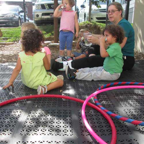 StayLock Perforated Playground Tiles for Preschools