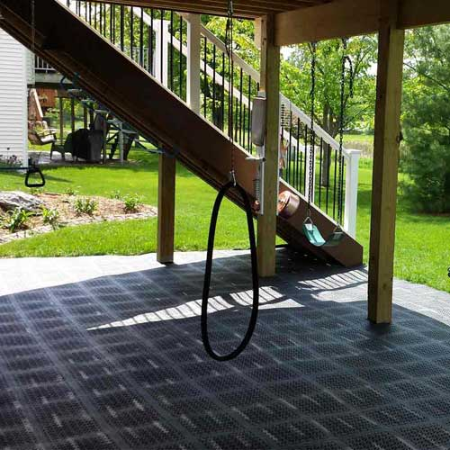 Staylock Perforated Outdoor Flooring Over Grass