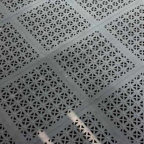 StayLock Perforated Gray Tiles.