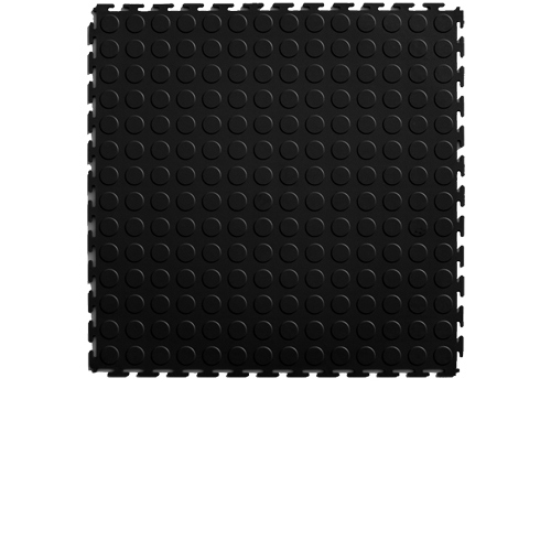 Coin Top Floor Tile Black or Dark Gray 4.5 mm 8 tiles black tile.