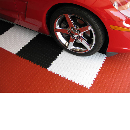 Coin Top Floor Tile Colors 4.5 mm 8 tiles red white black tiles.