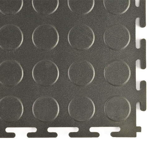 Coin Top Home Floor Tile Black or Dark Gray 8 tiles corner.