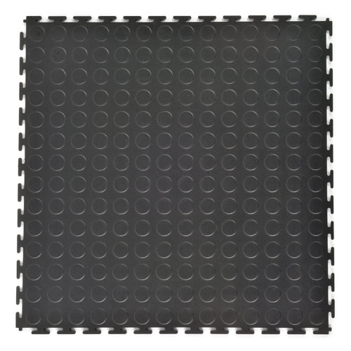 Coin Top Home Floor Tile Black or Dark Gray 8 tiles full.