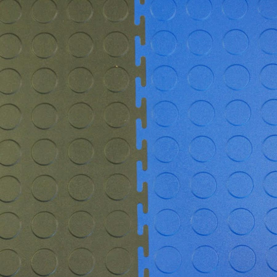Coin Top Home Floor Tile Black or Dark Gray blue black interlocked.
