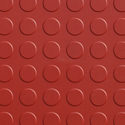 Coin Top Floor Tile Colors 4.5 mm 8 tiles red swatch.