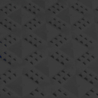 Ergo Matta Perforated - large holes black swatch.