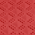 Ergo Matta Perforated - large holes red swatch.